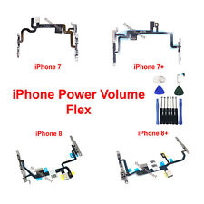 OEM Power Volume Switch Button Flex Cable w/ Bracket For iPhone 7 8 / 7 8 Plus X