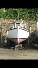26 Ft Fishing Boat - In Board Volvo Engine - Mahogany Planks On Oak Frame