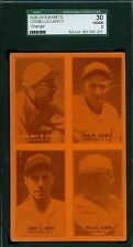 1929-30 Exhibit Card - Chicago White Sox - Cissell Kamm Kerr Clancy - SGC 30