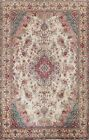 Semi-Antique Floral Traditional Oriental Area Rug Hand-knotted Wool Carpet 7x10