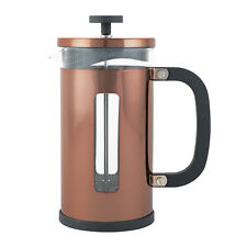 Cafetiere 3 cup / 350ml Copper French Filter Coffee Press Stainless Steel Glass