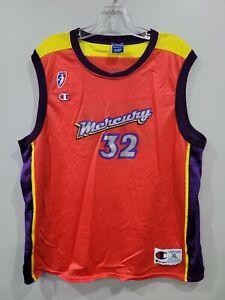 Vintage 90s Champion WNBA  Phoenix Mercury Bridget Pettis 32 Jersey Womens XL