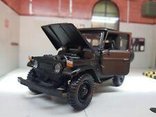 More details for 1:24 scale model toyota land cruiser fj40 matt black detailed motormax diecast