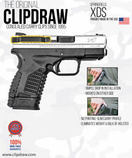 Clipdraw Belt Clip Springfield XDS 1 & Model 2 9/40/45 IWB Black Ambidextrous