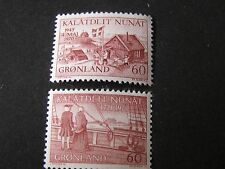 GREENLAND, SCOTT # 76+77(2), 1970-71 LIBERATION CELEBRATION +EGADE ARRIVAL MNH