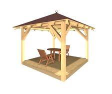 Holzpavillon verzapft Gartenpavillon Pavillon Gartenlaube Gartenhaus Grillhütte