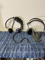 TWO VINTAGE 1-OHMS Headphones Headset Bakelite