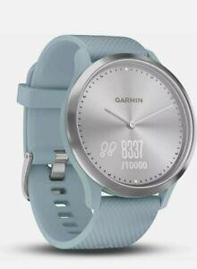 Garmin Vivomove HR Hybrid Smart Watch Activity Tracker Sea Foam Blue