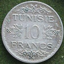 TUNISIE 10 FRANCS 1353/1934  ARGENT
