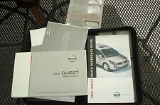 2004 NISSAN QUEST OWNERS MANUAL V42-D  PACKET SET  & NISSAN CASE + QUICK REF