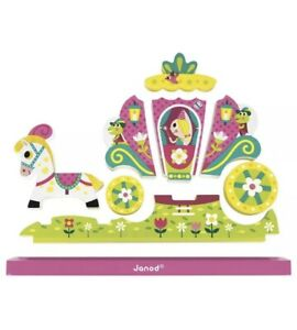 New Janod Wooden Magnetic Vertical Puzzle Princess 18-36month France Design