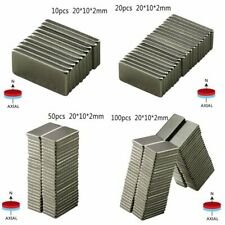 10~50 PCS Super Strong Magnet Block Neodymium Rare- Earth Magnets N52 20x10x2mm