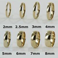 9ct Yellow Gold Sports Profile Wedding Ring