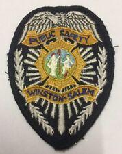 RARE Winston Salem Public Safety Police Embroidery Patch / Badge / Sew On Patch