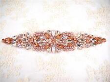 Diamante Trim Crystal Bridal Applique Bead Motif Rhinestone Wedding Accessories