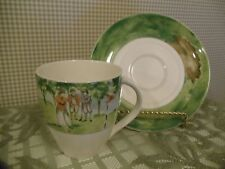 Mikasa ULTIMA + Super Strong Fine China COUNTRY CLUB Coffee Cup/Saucer ~ 8 Sets