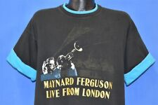 vtg 90s Maynard Ferguson Live From London Trumpet Roll Sleeve Black t-shirt Xl