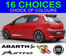 fiat punto bravo 500 stilo coupe abarth brava uno decals 2 off stickers graphics