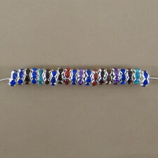 8 mm /& 10 mm 10pcs clair Blotter Strass Spacer Beads 6 mm