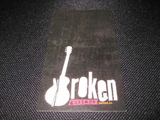 Green Day Billie Joe Broken Guitars Oakland Business Card Music Memorabilia PUNK