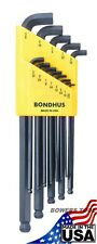 Bondhus 13 pc Stubby SAE Standard Inch Hex L Wrench Set .050 - 3/8in USA 16537