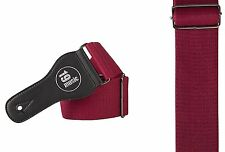 Extra Wide Deluxe Cotton Guitar Strap Burgundy deep red comfortable support soft
