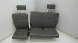 2006-2007 NISSAN ARMADA THIRD ROW SEAT ASSEMBLY GRAY LEATHER