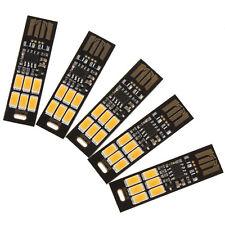 5Pcs Soshine USB Power 6-LED Night Light 1W 5V Touch Dimmer Warm White Light New