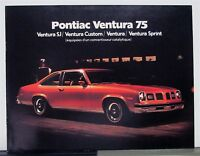 1975 Pontiac Ventura Canadian Sales Brochure In French Text