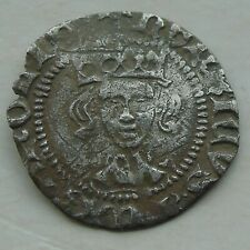 More details for hammered silver penny, long cross henry vi annulets london, nice portrait s1844