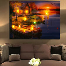 LED Light Up Canvas Painting Wall Hanging Picture Art Print Home Decor