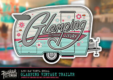 Glamping Vintage Trailer Decal  - Camping - RV - Camper - Shasta Trailer - Retro