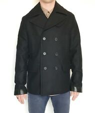 All Saints Wool & Leather Felix Peacoat. Retail $560 Price $220 38 Size M NWT