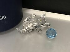 Swarovski Figurine Cat with Blue Ball 2in Boxed & Zertifikat. Top Zustand