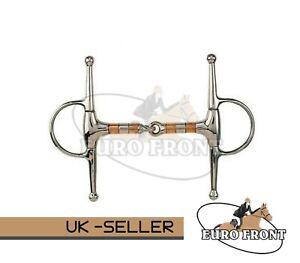 Copper Roller Full Cheek Jointed Snaffle (Eurofront Ltd ® Horse Bits)