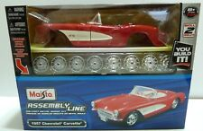 MAISTO  1:24 MODEL KIT 1957 CHEVROLET CORVETTE  DIE-CAST RED 39275