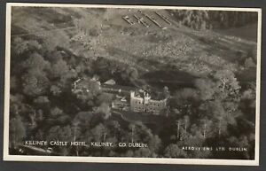 Postcard Killiney Castle Hotel in County Dublin Ireland aerial view RP