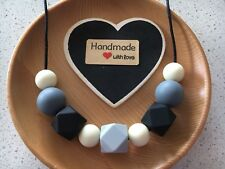 Silicone Sensory (was teething) Necklace for Mum Jewellery Beads Aus Gift Mono