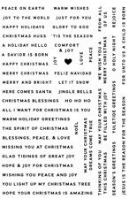 Tiny Christmas Greeting - Stamp Set - AUSTRALIAN STOCK