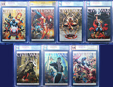 CIVIL WAR #1-7 TURNER COLOR VARIANTS (2006) NM+ PGX 9.8 - 9.6 (not CGC) 3 SIGNED