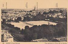 Carte postale-Niort (Deux-sèvres)/vue gènèrale et place de la brèche