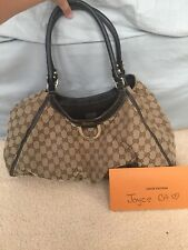 Authentic Vintage GUCCI D Ring Hobo Shoulder Bag Purse Handbag Tote
