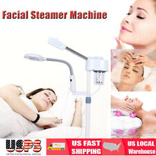 Pro 2 in 1 Facial Steamer 3X Magnifying Lamp Hot Ozone Machine Spa Salon Beauty