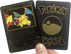 Pokemon Carte Metal Gold Or Brillante VMAX GX Rainbow Champion Collector Fan Mad