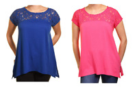 NEW DKNY Jeans Womens Short Sleeve Lace Top-VARIETY