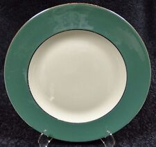 "Homer Laughlin Lexington Dinner Plate 10 1/4"" Cavalier Platinum Trim EXCELLENT!"