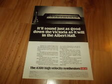 Akai AX80 synthesiser-1985 magazine advert