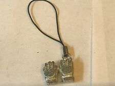 Football Gloves TG181 Fine English pewter Mobile Phone charm
