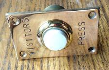 Vintage brass and ceramic bell press B Smith