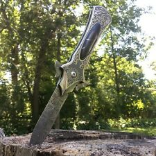 "8"" FANTASY FOLDING Dagger Dirk POCKET KNIFE Damascus Ninja Blade BLACK PEARL"